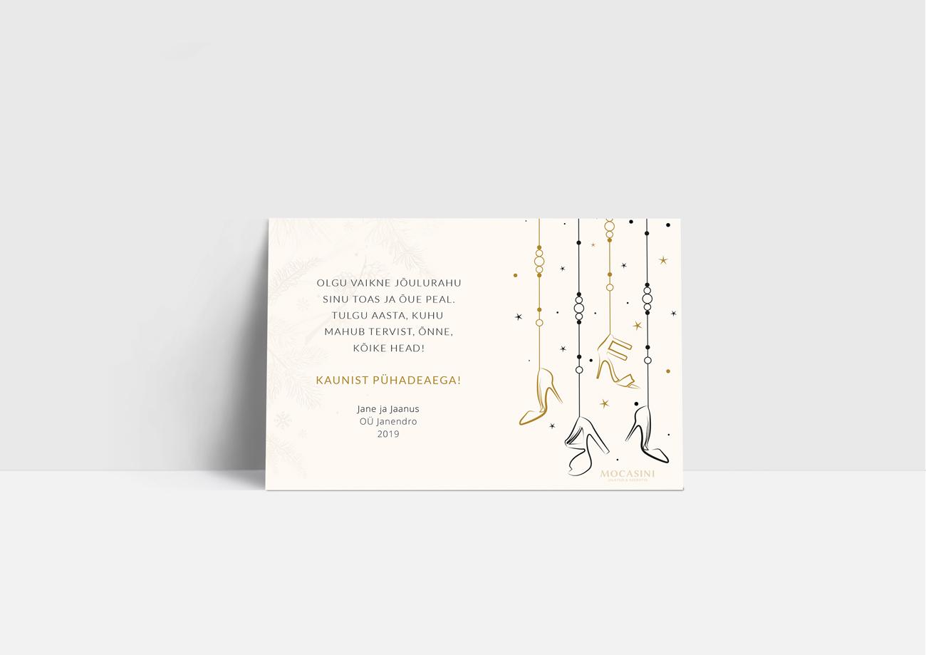 Mocasini jõulukaart